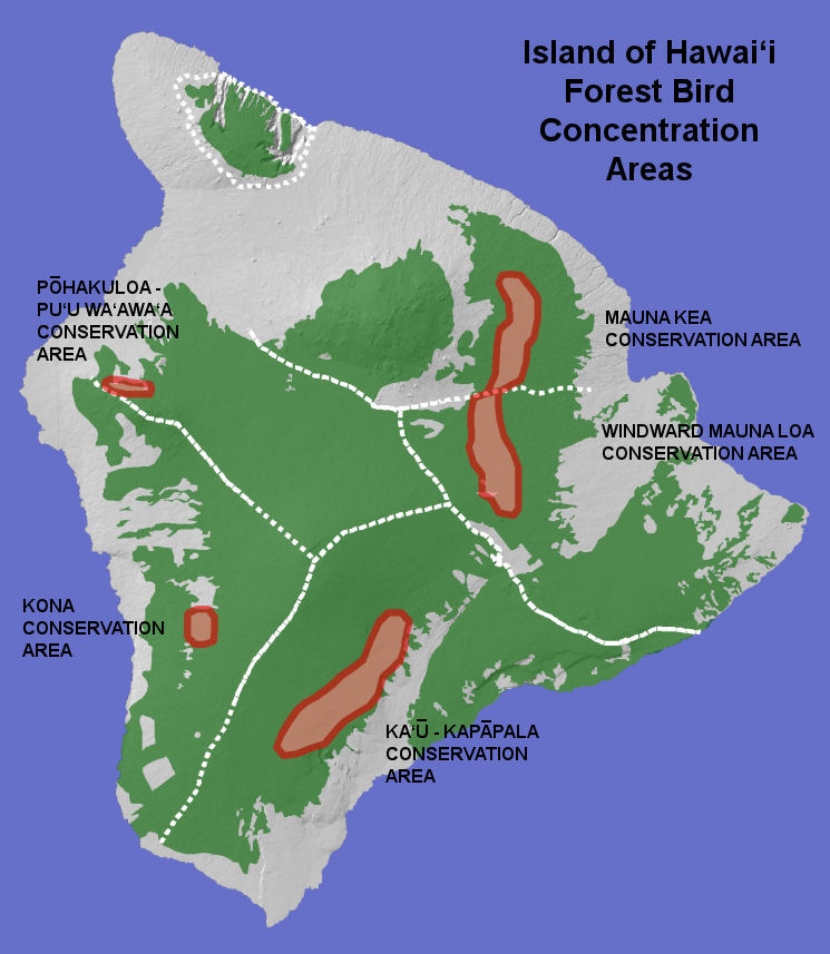 HAWAII FOREST BIRD CONCENTRATION AREAS