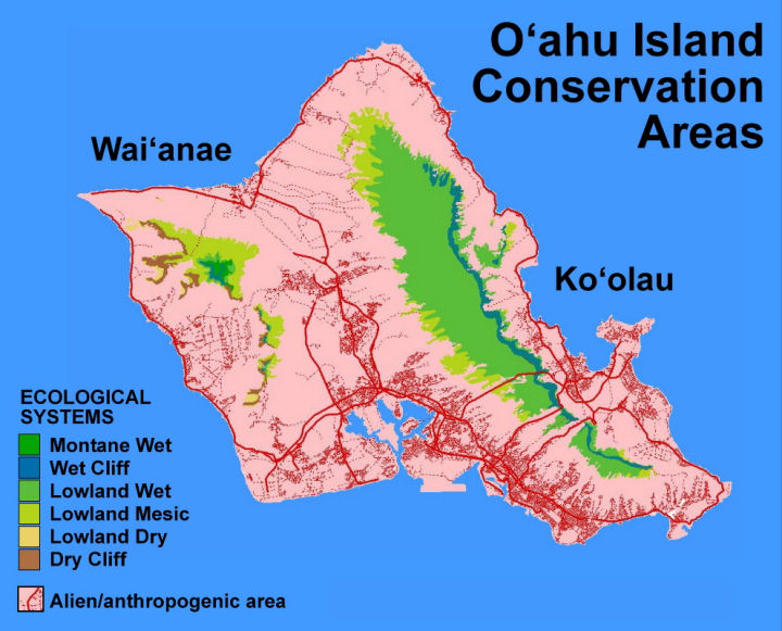 Ecological systems of the Island of O'ahu
